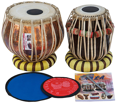 Vhatkar Pro Copper Student Model Tabla Set-2.5 KG + Shishum Dayan SM-BAH
