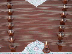 Kanai Lal & Sons Santoor - Shiv Kumar Sharma Style - Brown Color - 31 Notes - 93 Strings (SM-BHF)