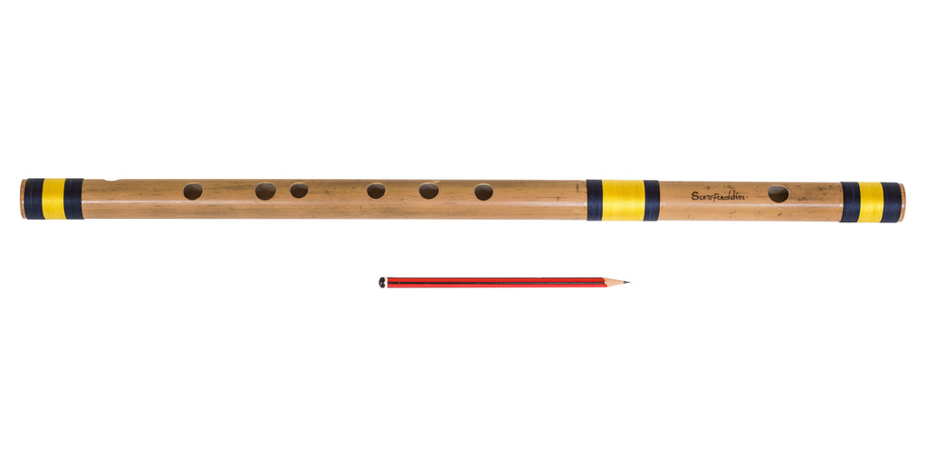 Bansuri, Bamboo Flute Indian, Sarfuddin Flute, Scale A Sharp Base 21.5 Inches, Concert Quality, Nylon Pipe Bag, Accurately Tuned, Indian Bansuri Hindustani (PDI-DEC)