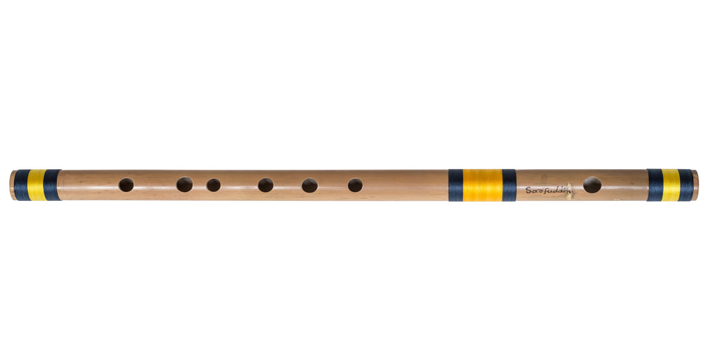 Bansuri Professional, Sarfuddin, Scale E Natural Bass 29.5 Inches, Indian Bamboo Flute, Concert Quality, Tuned, Includes Nylon Pipe Bag, Hindustani Bansuri Flute Indian (SM-DFG)