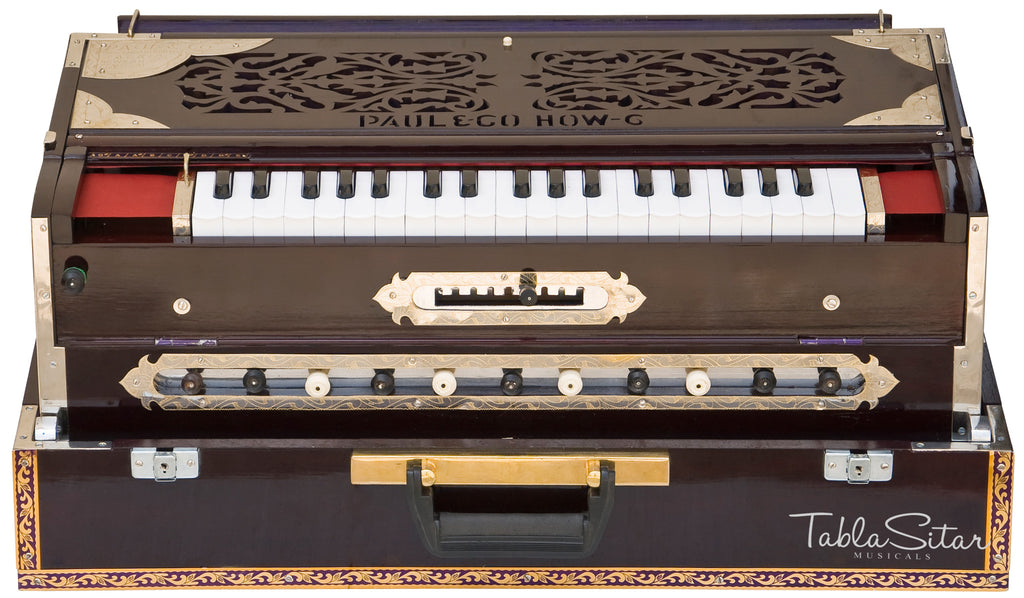 Paul & Co. Harmonium 3 Reeds 9 Scale Changer, Dark Mahogany Color - SM-FAB