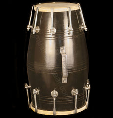 SANSKRITI MUSICALS MangoWood Dholak - Bolt Tuned - Black Wedding Dholki - FJ