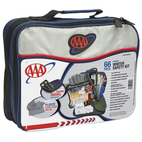 Lifeline AAA 66-Piece Winter Safety Road Kit