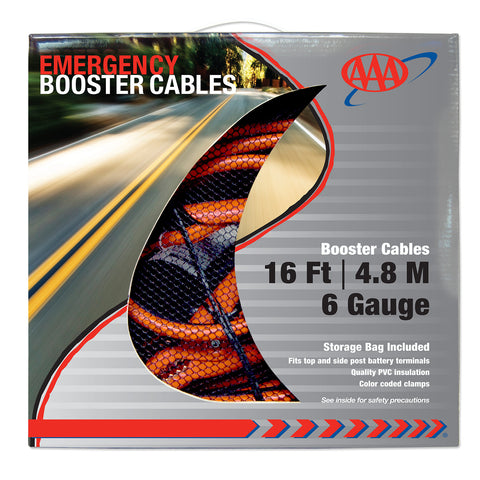 AAA 16ft 6 Gauge Booster Cables