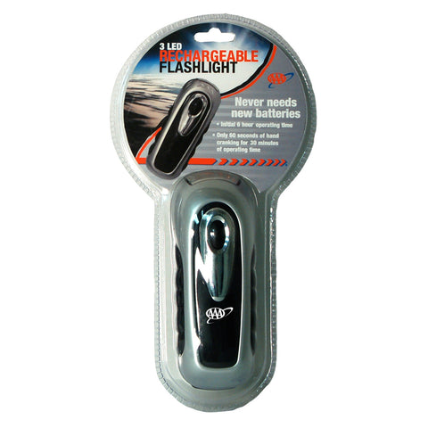 AAA 3-LED Rechargeable Hand Crank Flashlight