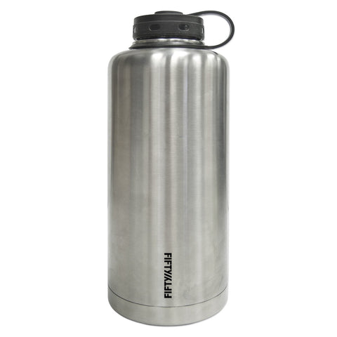 Fifty/Fifty Stainless Steel Double-Walled Vacuum-Insulated Growler Bottle (64oz)