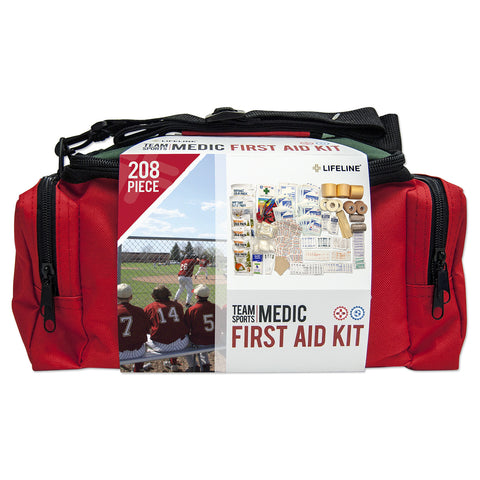 Lifeline 208-Piece Medic Team Sports First Aid Kit (Soft Case)