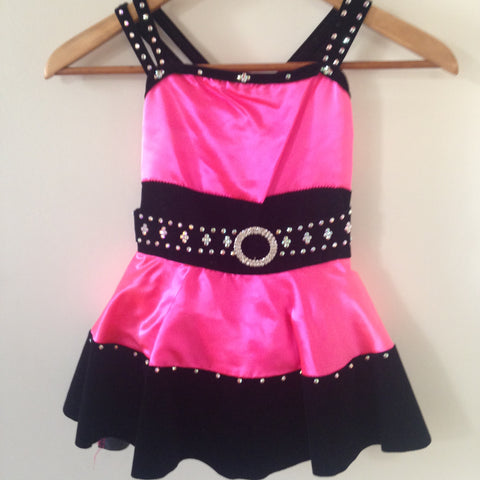 "Pink and Black Sassy Jazz Costume ""Diamonds"""