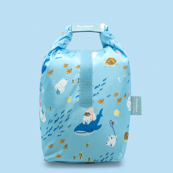 Pockeat Food Bag | White and Sea