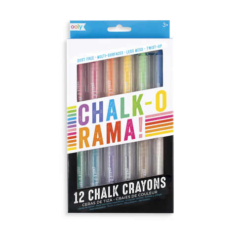 OOLY CHALK O RAMA CHALK CRAYONS (SET OF 12)