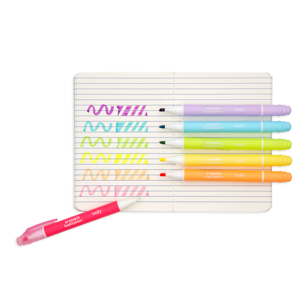 OOLY mini magic liners erasable highlighters - set of 6