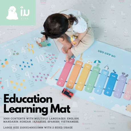 Liku Educational Bumper Mat with Sound Pen + 6 Posters - L15
