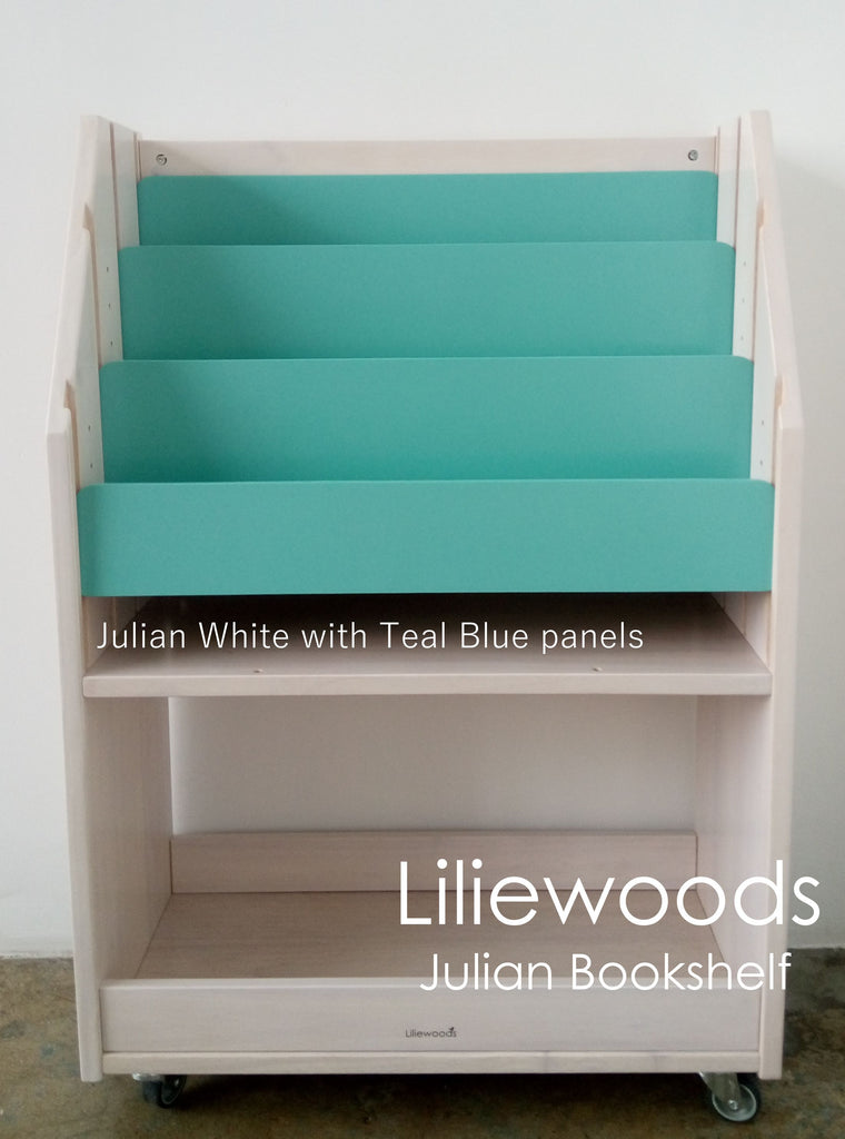 effect turquoise with pin barnwood bookshelf distressed backing