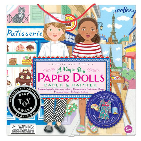 A DAY IN PARIS: PAPER DOLLS SET, BY EEBOO