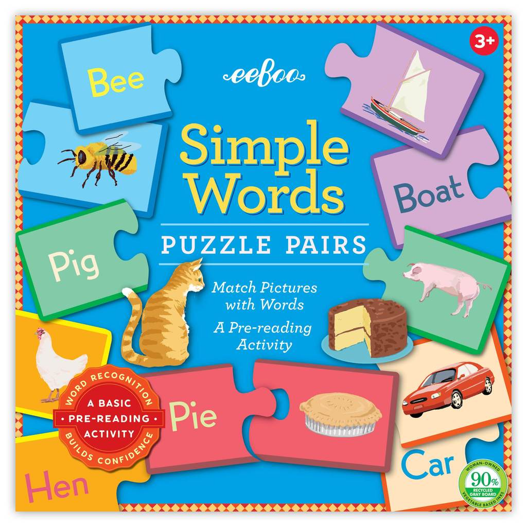 SIMPLE WORDS PUZZLE PAIRS (NEW!), BY EEBOO