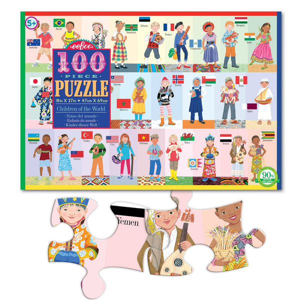 CHILDREN OF THE WORLD 100PC PUZZLE, BY EEBOO