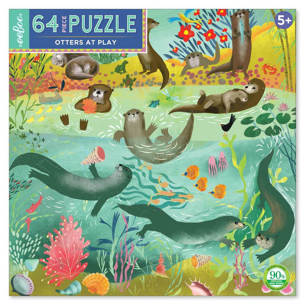 OTTERS AT PLAY 64PC PUZZLE, BY EEBOO