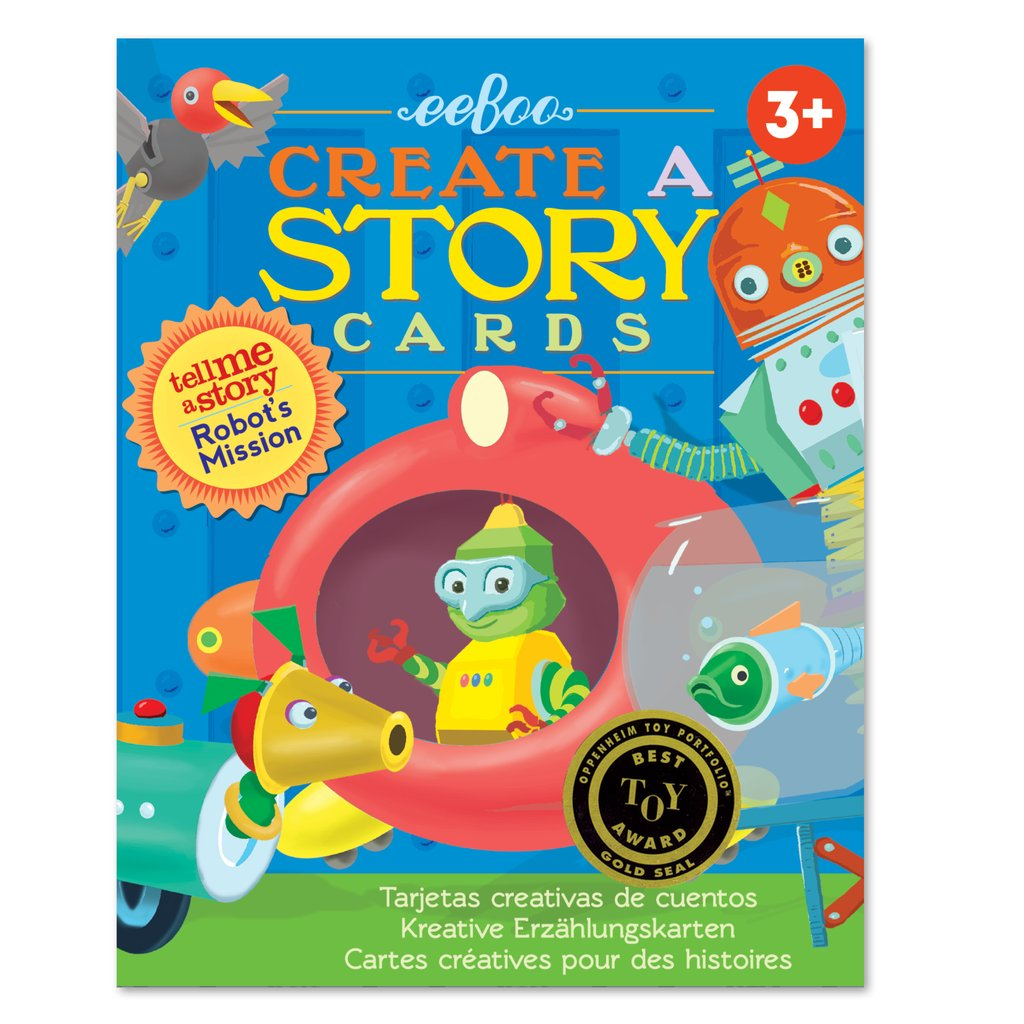 CREATE-A-STORY CARDS: ROBOT'S MISSION, BY EEBOO