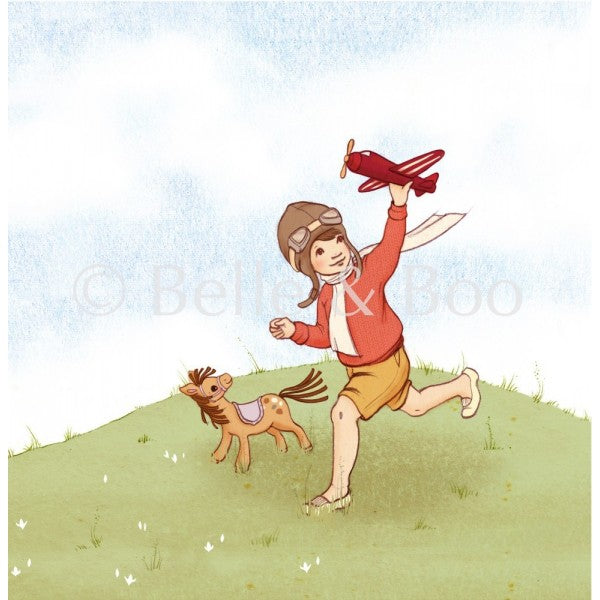 Belle & Boo's The Little Aviator Art Print