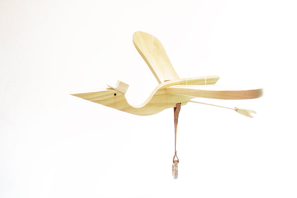 Natural Wood Mobile Baby Bird from Eguchi