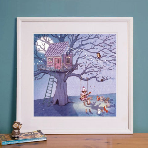 Belle's Lullaby Art print by Belle & Boo