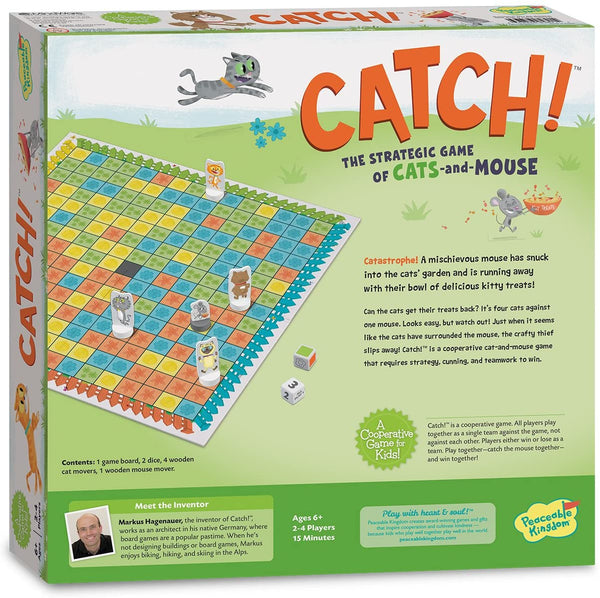 Peaceable Kingdom - Catch! The Strategic Game of Cats and Mouse