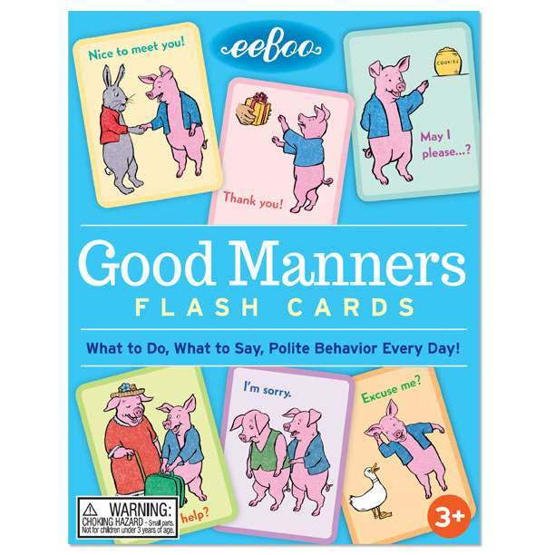 GOOD MANNERS FLASH CARDS, BY EEBOO