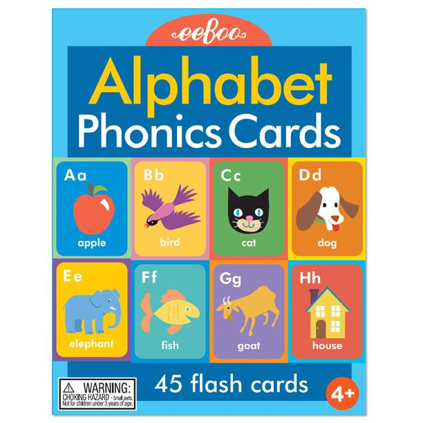 ALPHABET PHONICS FLASH CARDS, BY EEBOO