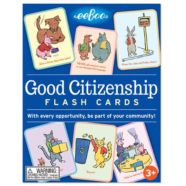 GOOD CITIZENSHIP FLASH CARDS, BY EEBOO