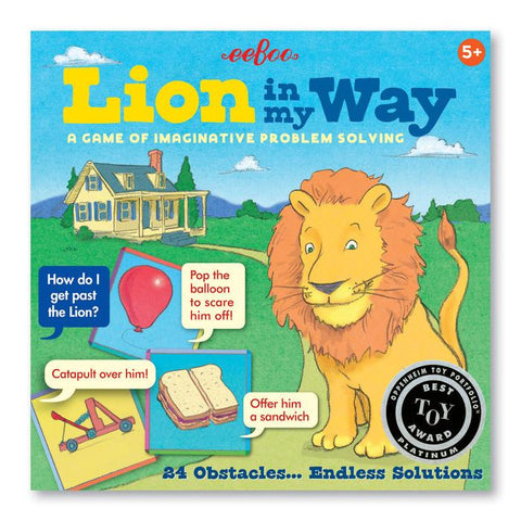 LION IN MY WAY - A GAME IMAGINATIVE PROBLEM SOLVING, BY EEBOO