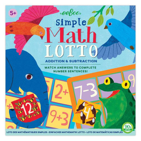 SIMPLE MATH LOTTO GAME, BY EEBOO