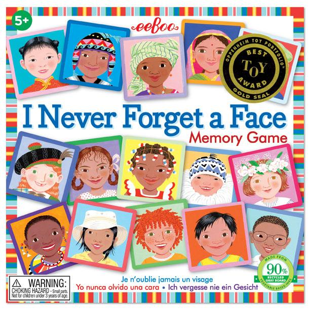 I NEVER FORGET A FACE - MATCHING & MEMORY GAME, BY EEBOO