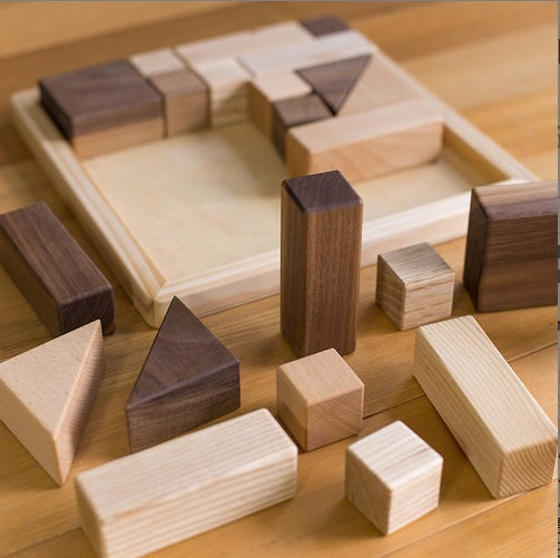 Solid Wooden Block Puzzle from Eguchi - Liliewoods