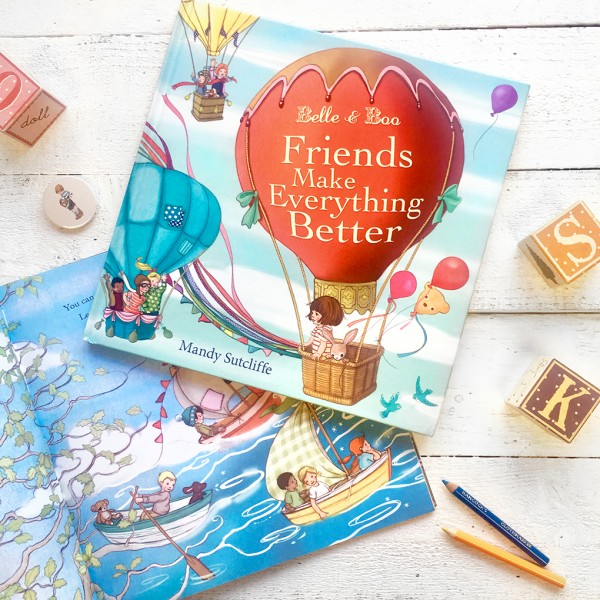 """Friends Make Everything Better"" Picture Book by Belle & Boo"