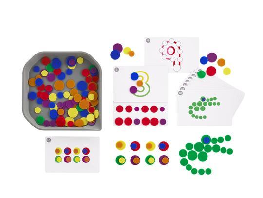 EDX Fun Play Round Chips Activity Set with Tray
