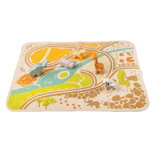 Tenderleaf Safari Playmat with Animals