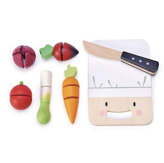 Tenderleaf Cute mini Chef Chopping Board w vegetables