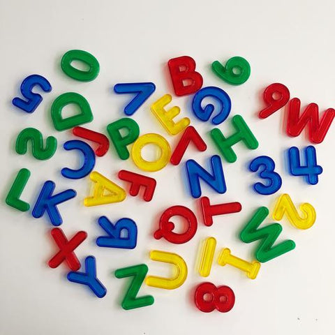 EDX Transparent Rainbow Letters & Numbers Set