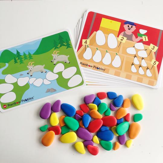 EDX Signature Rainbow Pebbles Activity Set