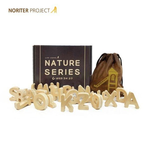 Noriter Project Solid Wood Magnetic Alphabets