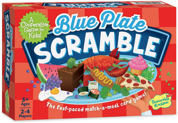 Peaceable Kingdom Blue Plate Scramble Cooperative Matching Memory Game for Kids