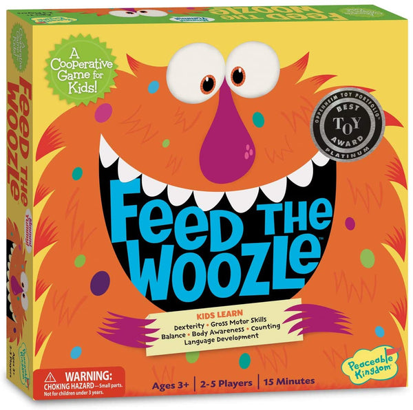 Peaceable Kingdom Feed the Woozle: The Game of Silly Snacks and Mixed-Up Moves