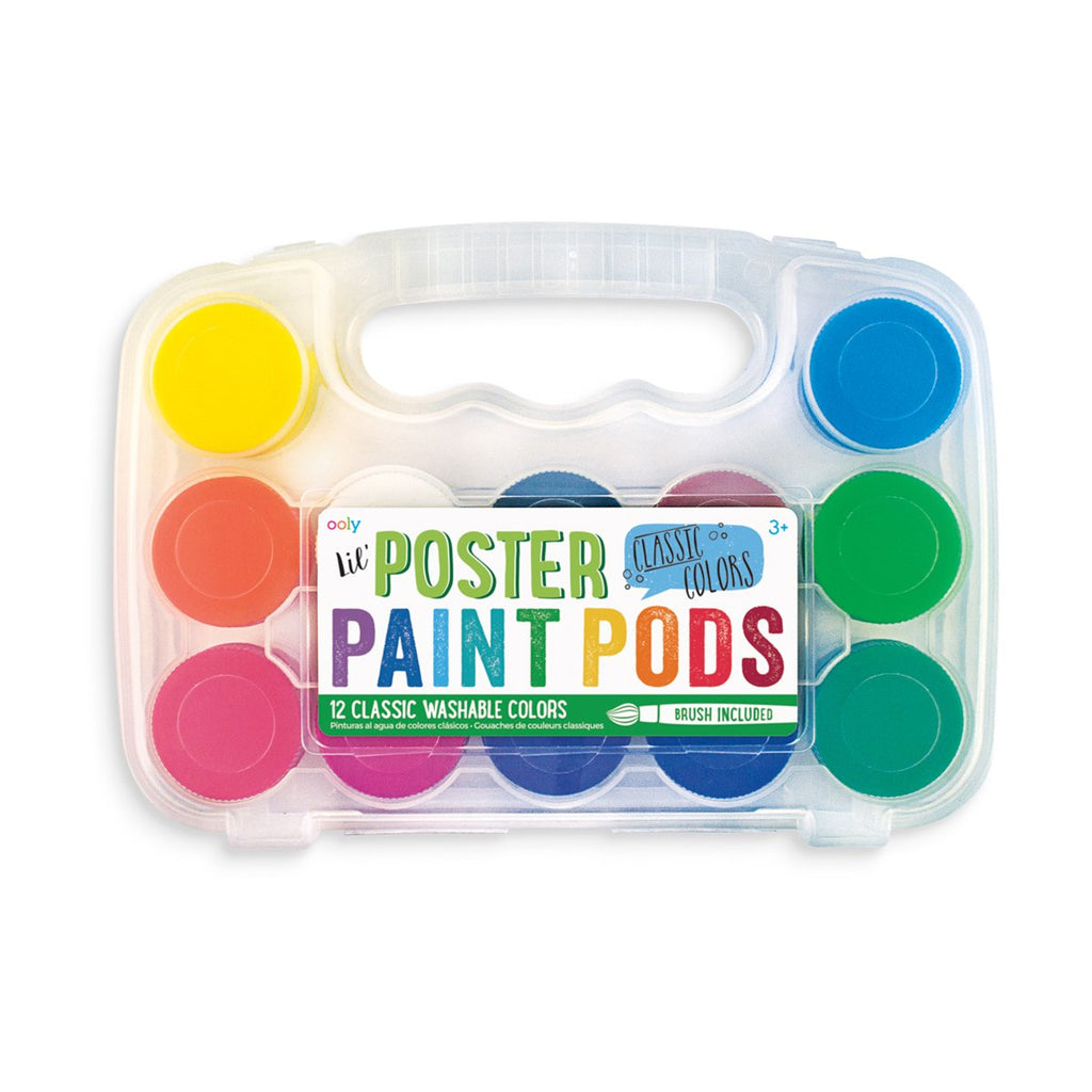 Lil Poster Paint Pods & Brush (Classic 13 Pc Set) by OOLY