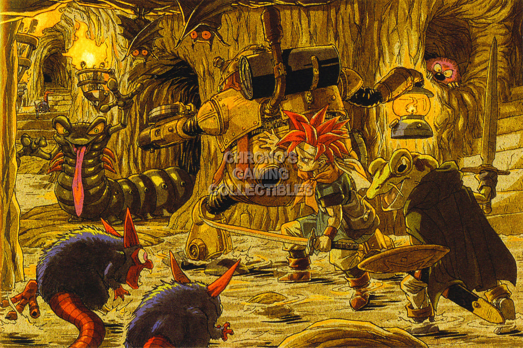 CGC Huge Poster - Chrono Trigger Art Super Nintendo SNES DS - CHO007