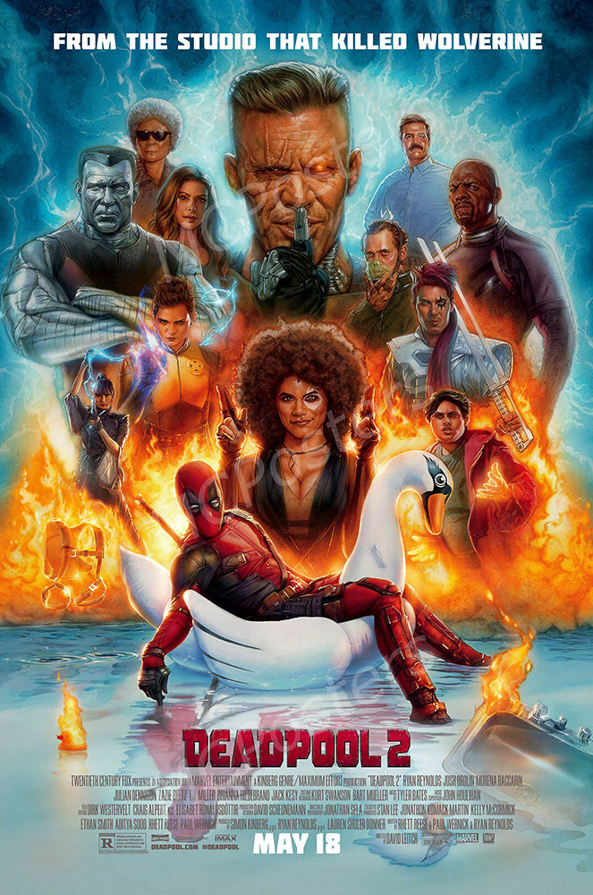 MCPosters - Marvel Deadpool 2 GLOSSY FINISH Movie Poster - FIL985