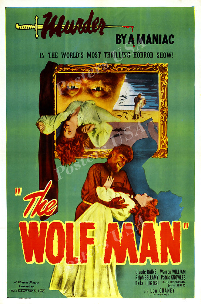 Posters USA - The Wolf Man GLOSSY FINISH Movie Poster - FIL974