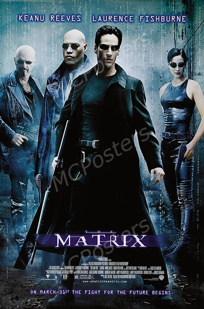 MCPosters - The Matrix Keanu Reeves GLOSSY FINISH Movie Poster - MCP917