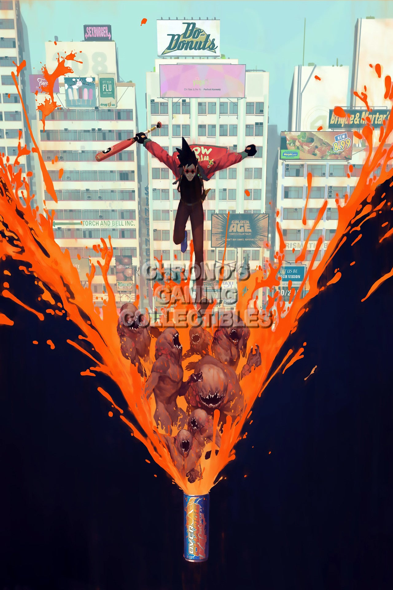 sunset overdrive video games poster