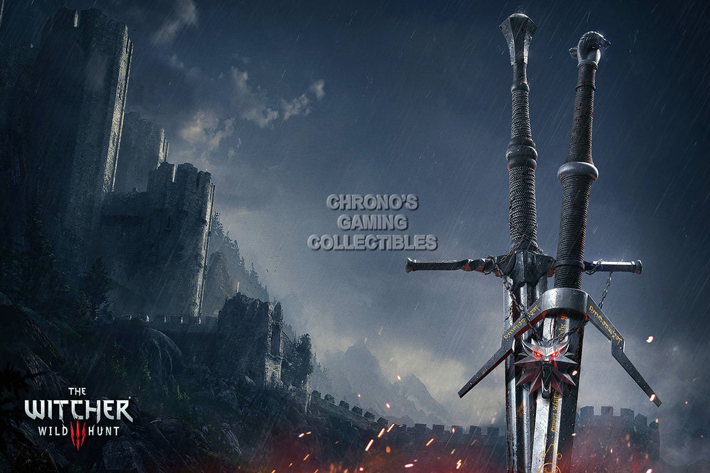 CGC Huge Poster - Witcher 3 III Wild Hunt Swords PS4 XBOX One - EXT159