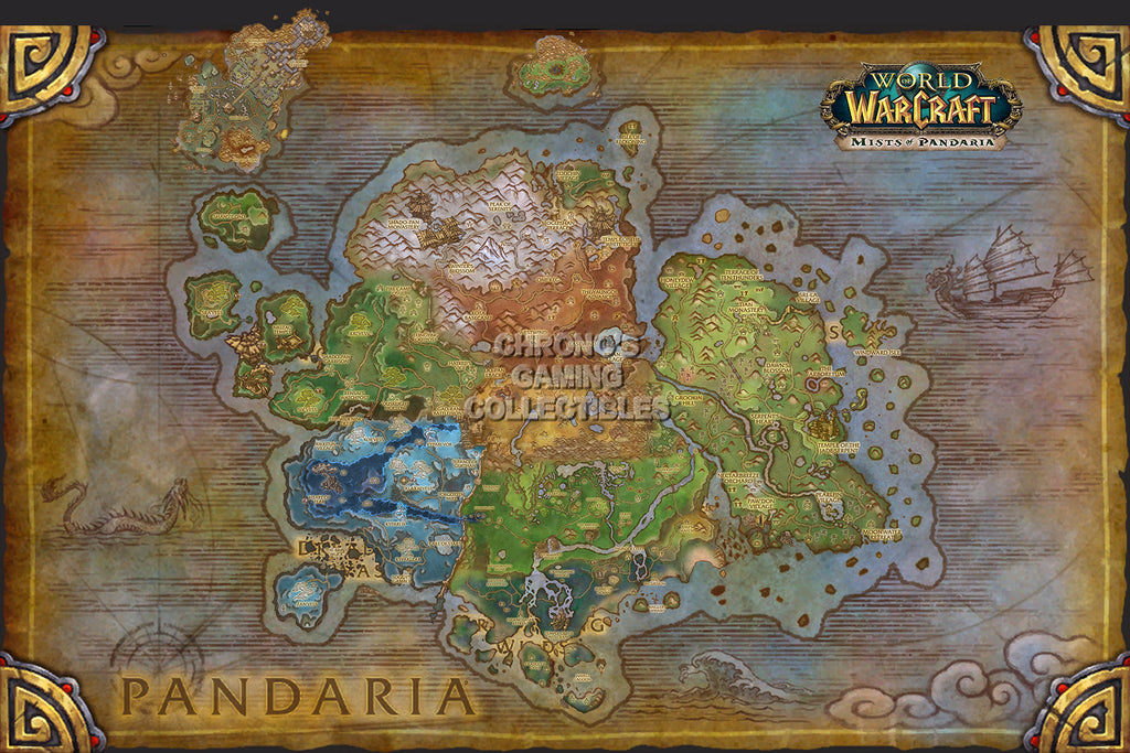 CGC Huge Poster - World of Warcraft Mists of Pandaria Map PC - EXT183